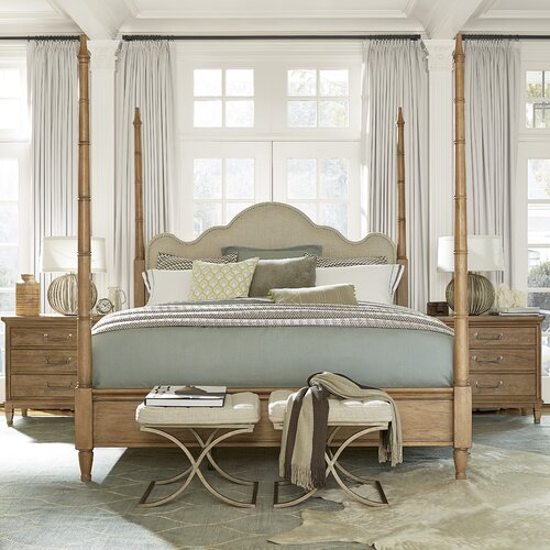 Universal Furniture Moderne Muse Four Poster Customizable