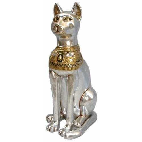 Egyptian cat goddess bastet grande statue wayfair - Grande statue design ...