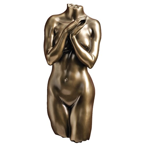 Design Toscano Anatomical Decipher Nude Torso Female Wall Décor