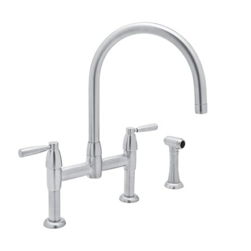 Perrin And Rowe Double Handle Deck Mount Bridge Kitchen Faucet Wayfair