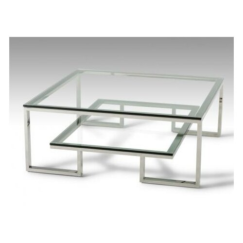 Modrest Upton Modern Square Glass Coffee Table Coffee: VIG Furniture Modrest Topaz Coffee Table & Reviews