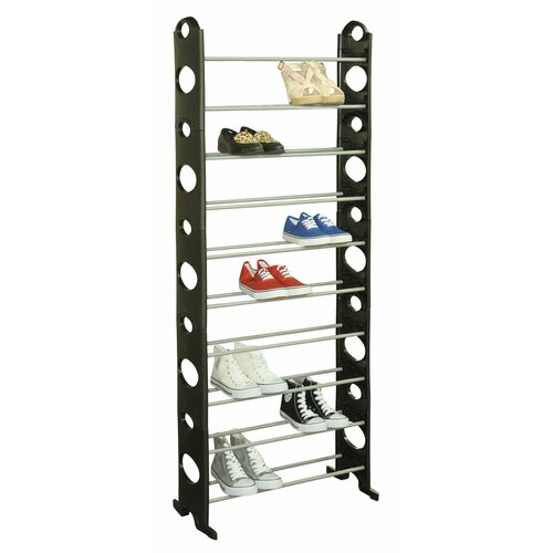 Sunbeam 30 pair shoe rack reviews wayfair for Armario zapatero pvc