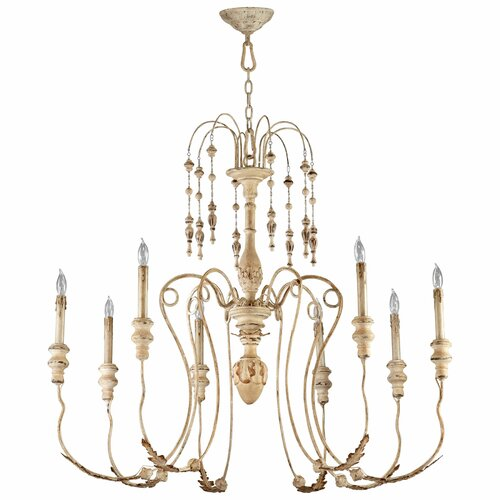 maison 8 light chandelier wayfair. Black Bedroom Furniture Sets. Home Design Ideas