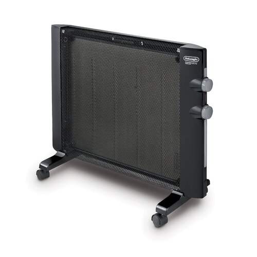 Flat Designer Thermostatic Electric Heating Heated: DeLonghi Mica 1,500 Watt Portable Electric Radiant Panel