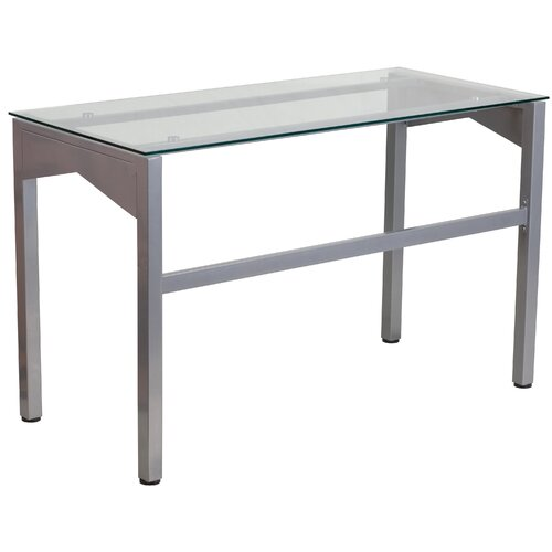 Flash furniture office desk chairs features heavy duty silver finished