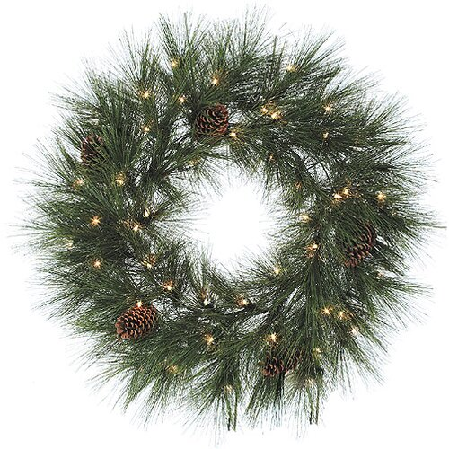 12 Lighted Artificial Noble Pine Christmas Wreath