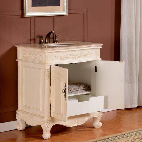 Silkroad Exclusive 32 Single Sink Cabinet Bathroom Vanity Set Reviews Wayfair