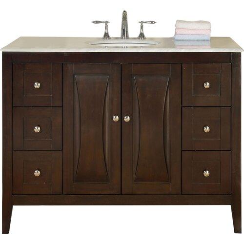 Silkroad Exclusive 48 Single Sink Cabinet Bathroom Vanity Set Reviews Wayfair