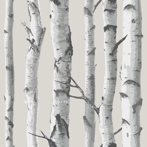 Wallpops birch tree peel and stick wallpaper reviews for Wayfair bathroom wallpaper