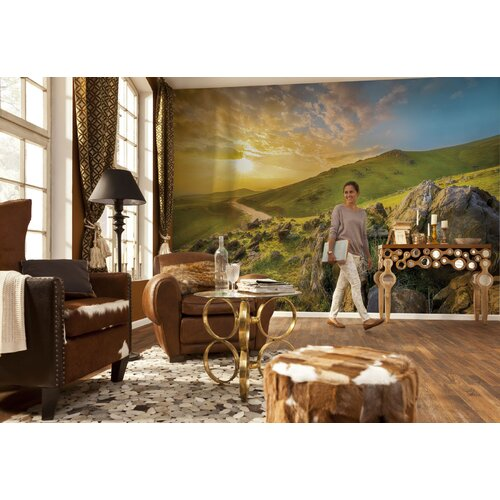 Brewster home fashions komar mountain morning wall mural for Brewster wall mural