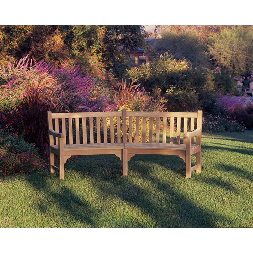 Oxford Garden Essex Curved Wood Garden Bench Amp Reviews
