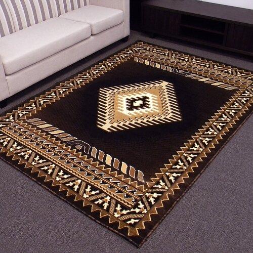 donnieann company kingdom black southwest native american area rug reviews wayfair. Black Bedroom Furniture Sets. Home Design Ideas