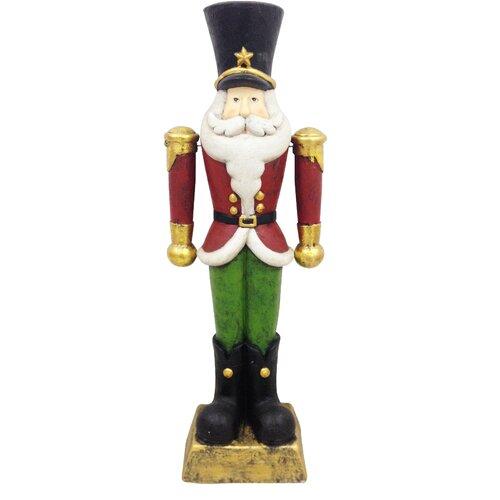 Christmas tall nutcracker statue wayfair for Floor nutcracker