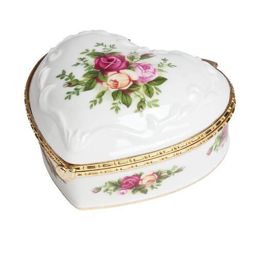 Old Country Roses If You Love Me Musical Box by Royal Albert