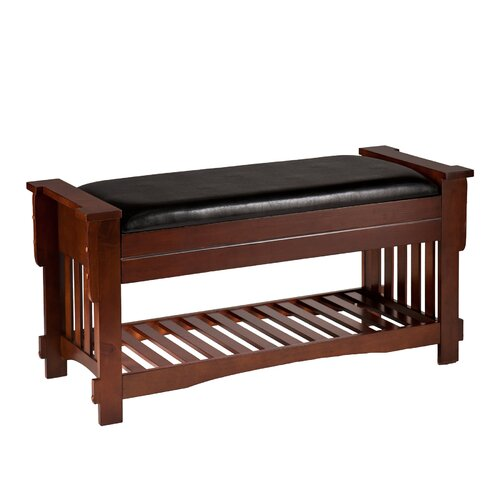 Wildon Home Upholstered Storage Bedroom Bench: Wildon Home ® Whittington Mission Upholstered Storage