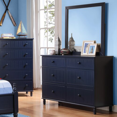Wildon Home Zachary 6 Drawer Dresser With Mirror Reviews Wayfair