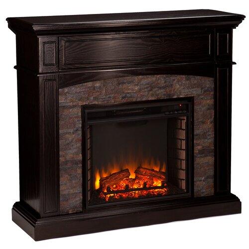 Three Posts Boston Faux Stone Corner Electric Fireplace Reviews Wayfair