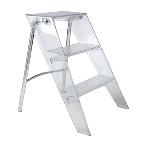 Kartell 3-Step Polycarbonate Upper Step Stool with 570 lb. Load Capacity