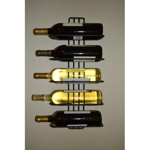 J J Wire 5 Bottle Wall Mount Wine Rack Reviews Wayfair