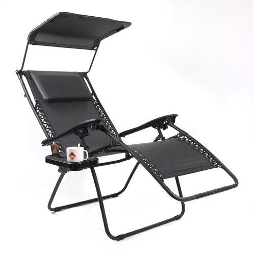 Gold Sparrow Pacific Black XL Zero Gravity Chair with ...
