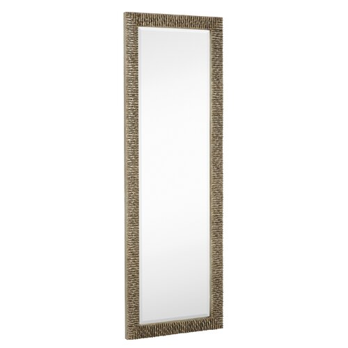 Majestic mirror long rectangular stylish silver with black for Long glass mirror