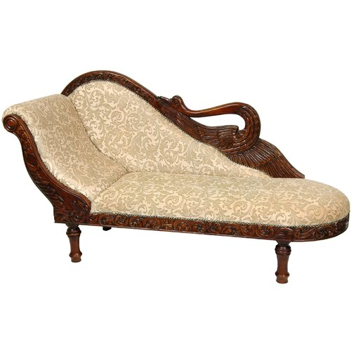 Oriental furniture queen elizabeth swan cotton chaise - Chaise transparente elizabeth ...