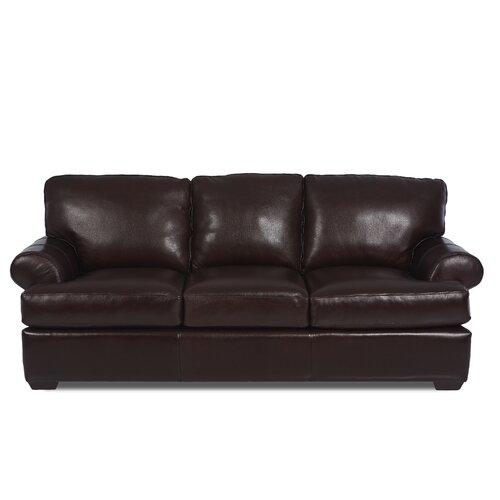 Klaussner Leather Sofa Review: Peabody Leather Sofa