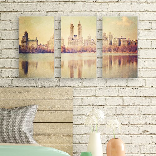 central park overlook 3 pc wrapped canvas wall art set 13704 | central park overlook photographic by ashley davis 3 piece painting print on wrapped canvas set