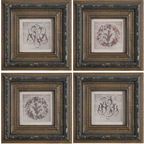 A&B Home Group, Inc 4 Piece Framed Wall Art Set & Reviews ...