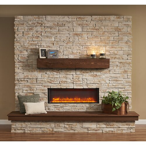 gallery linear built in electric fireplace wayfair