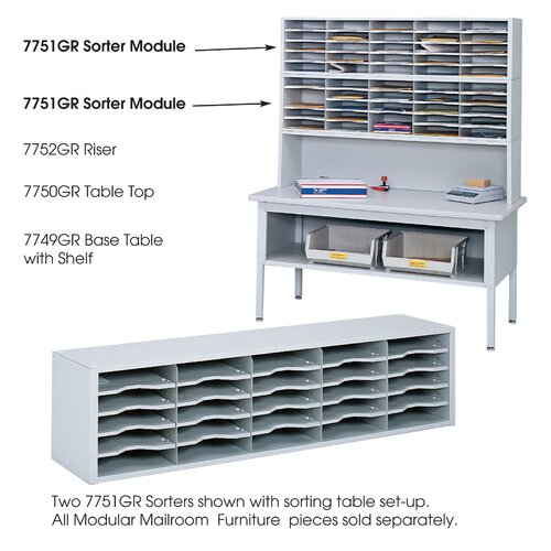 Safco Products E Z Sort Steel Mail Sorter Module Light