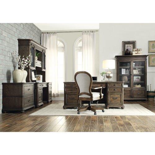 Riverside Home Office Executive Desk 44732: Riverside Furniture Belmeade Executive Desk With Hutch