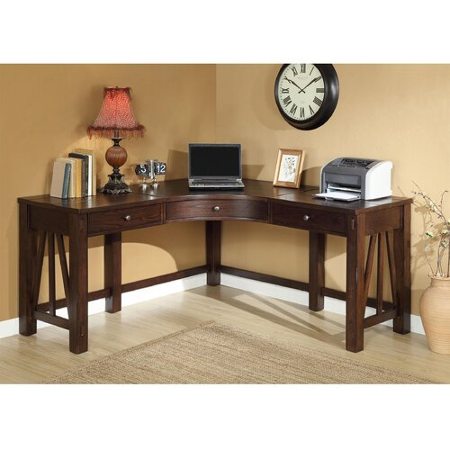 3 Piece Office Furniture ~ Riverside furniture castlewood piece l shape desk office