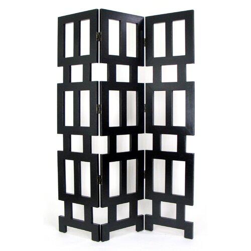 "76"" H x 54"" W Albertson 3 Panel Room Divider"
