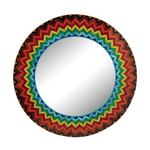 Vibrant Multi Starburst Mirror by Bungalow Rose