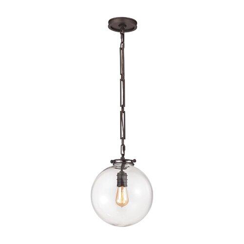 Elk Lighting Schoolhouse Pendant: Gramercy 1 Light Globe Pendant