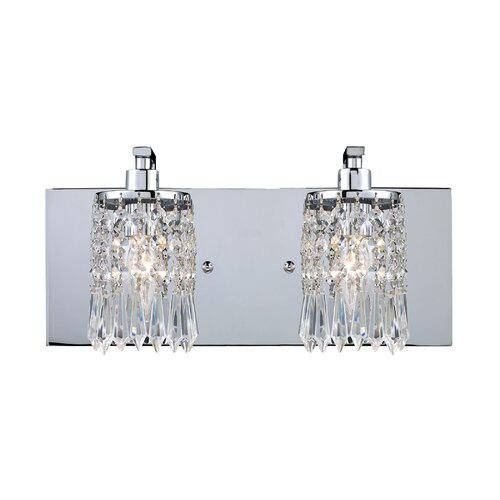 House of Hampton Roulers 2 Light Vanity Light & Reviews Wayfair