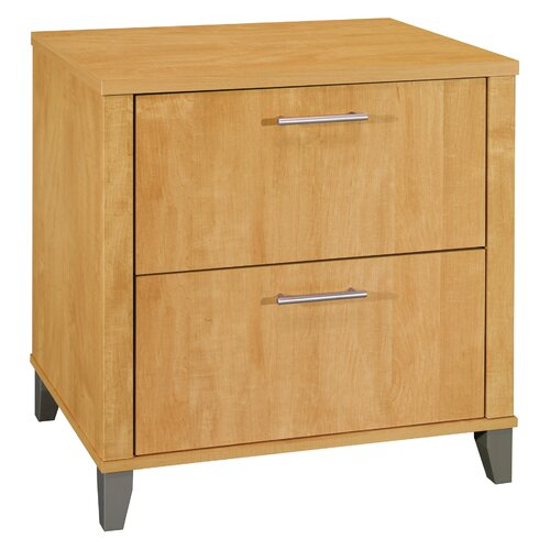 solid oak file cabinet 2 drawer 3