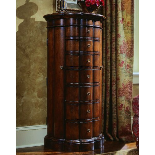 Seven Seas Jewelry Armoire with Mirror by Hooker Furniture