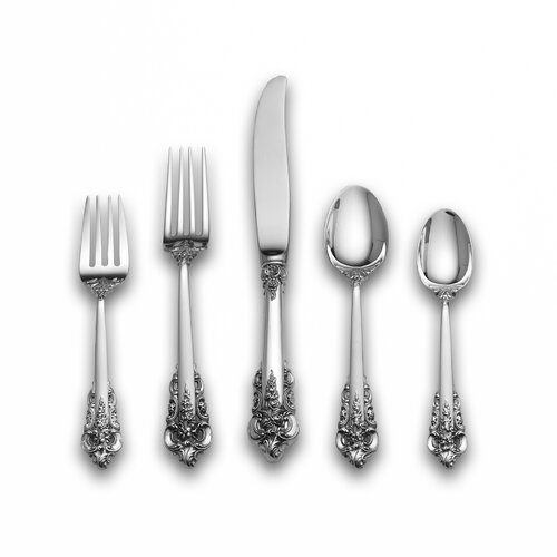 Sterling Silver Grande Baroque 66 Piece Dinner Flatware