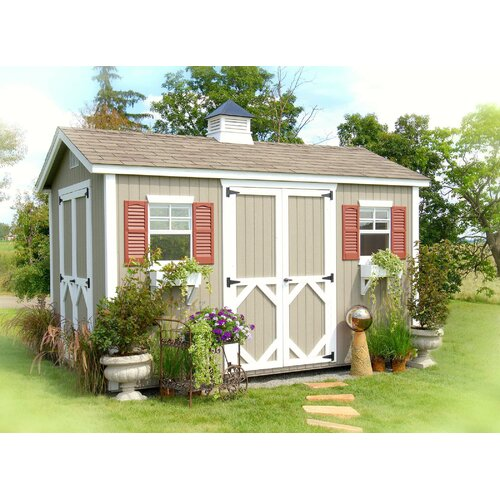 8 Ft. W x 12 Ft. D Wood Garden Shed