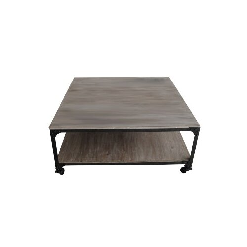 Screen gems industrial coffee table with magazine rack for Wayfair industrial coffee table