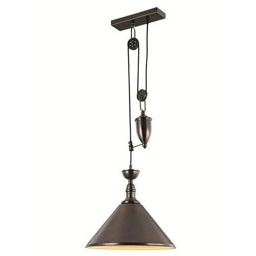 Elegant lighting industrial 1 light pendant reviews for Wayfair industrial lamp
