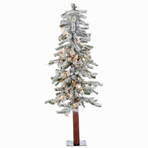 Vickerman 4 Flocked Alpine White Artificial Christmas