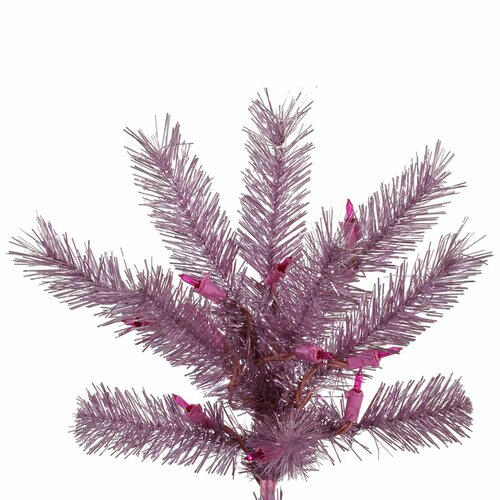 Pink Artificial Christmas Trees: 6.5' Orchid Pink Artificial Christmas Tree With 450 LED