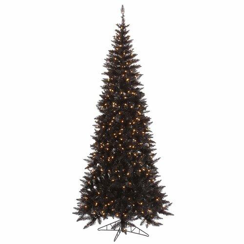 Next Slim Christmas Tree: Vickerman 7.5' Black Slim Fir Artificial Christmas Tree