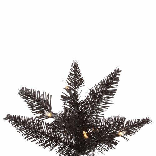 Vickerman 7.5 Black Slim Fir Artificial Christmas Tree with 500 Mini
