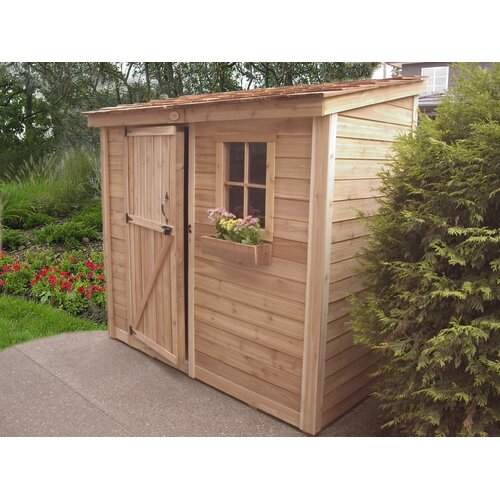 Outdoor Living Today SpaceSaver 8 Ft W X 4 Ft D Wood Lean To Shed Rev