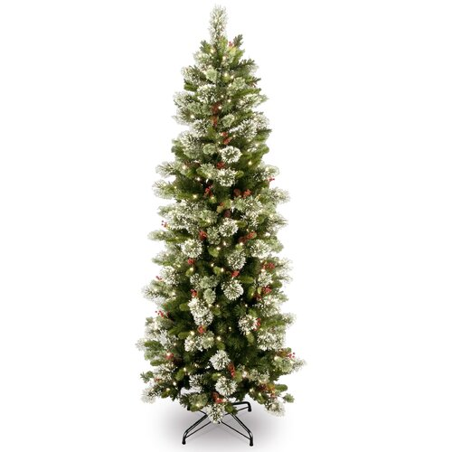 National Tree Co. Wintry Pine 7.5 Slim Artificial Christmas Tree with