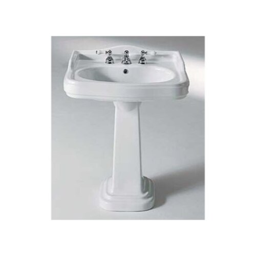 Old Fashioned Pedestal Sink: Old Antea Classic Style Curved Ceramic Pedestal Sink